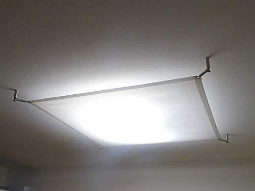 STUDIO LICHTSEGEL SCREENBASE ca. 100x140 cm, TEXTILES DECKENSEGEL für LED-LAMPEN und DECKENLEUCHTENLAMPE, TEXTILE LIGHT SAIL FOR LED PANEL, (ohne Hardwareset + Lampe -