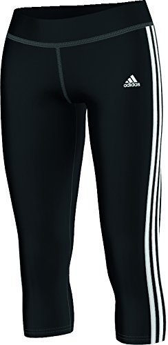 adidas Damen Hose 3/4 Sport Essentials 3-Stripes Tights, Schwarz/Weiß, XS, S88491 (Kurze 3-stripes Tights)