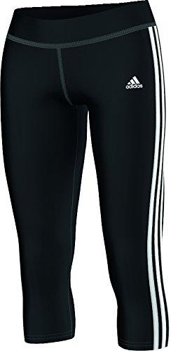 adidas Damen Hose 3/4 Sport Essentials 3-Stripes Tights, Schwarz/Weiß, XS, S88491 (Kurze Tights 3-stripes)