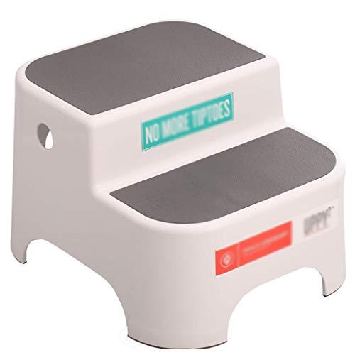 Kinderhandwäsche Pad Fußhocker - Rutschfeste Kleine Bench Step Hocker Baby Hocker (Farbe : Gray)