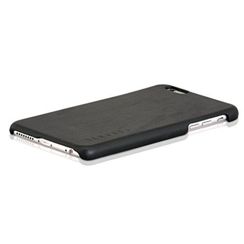 iPhone 6 / 6s Plus Custodia in Pelle Nera - KANVASA Cover ultrasottile