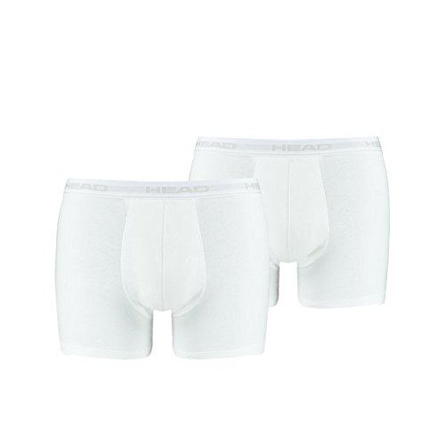 HEAD Herren Boxer Shorts Basic 2er Pack White