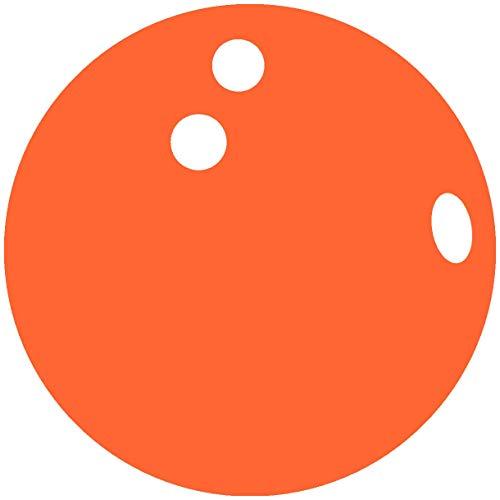 Samunshi® Autoaufkleber Bowlingkugel Aufkleber in 7 Größen und 25 Farben (15x15cm orange)