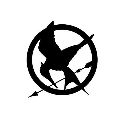 haotong11 14,2 cm * 15,3 cm Hunger Games Vinyl Auto-Styling Auto Aufkleber Schwarz/Silber 5 stücke (Hunger Games Dekorationen)