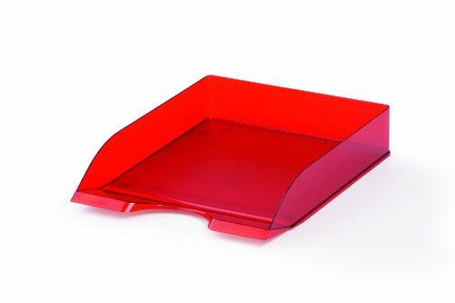 Durable 1701672003 Basic Vaschetta Porta Corrispondenza, Confezione da 1 Pezzo, Rosso