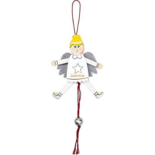 Jolly Jumping Jack Ornament Kugel mit Laser graviert Name–Personalisiert angel