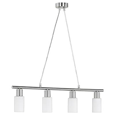 Reality Leuchten R30014007 – Lampada da soffitto a 4 luci, metallo, bianco