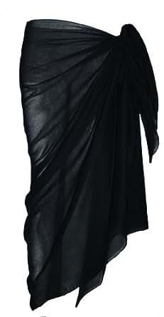 Plaine Paréo coton noir