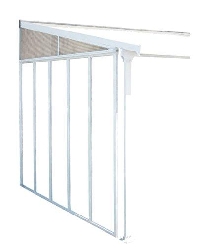 PEGANE Panneau latéral pour Couv'Terrasse 4 m Blanc, 330 x 3,4 x 260 cm