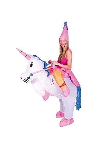 Kostüm aufblasbares Einhorn für Erwachsene (Raptor Erwachsene Kostüme)