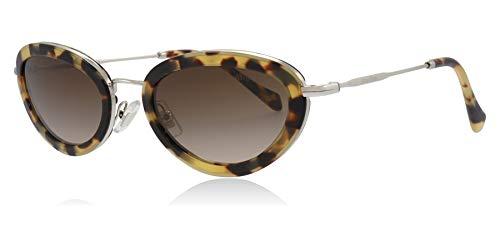 Miu Miu Sonnenbrillen Ring SMU 58U Blonde Havana/Brown Shaded Damenbrillen