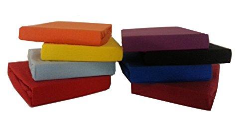 Spannbettlaken Jersey in allen Größen 90 -200 cm für XXL (140 x 200 cm bis 160 x 200 cm, weinrot)