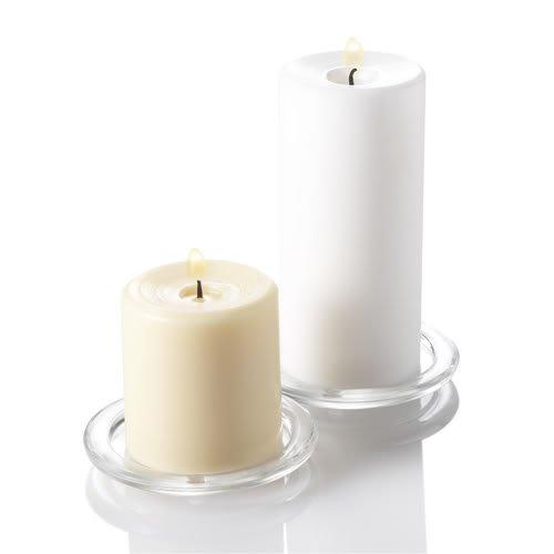 Quick Candles Kerzenhalter aus Glas, für Stumpenkerzen, 12Stück