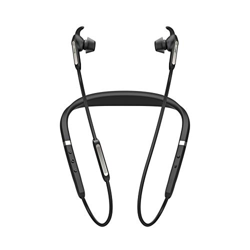 Jabra Elite 65e Cuffie Intrauricolari con Collare Wireless, ANC e Accesso One-Touch ad Amazon Alexa, Nero/Titanio