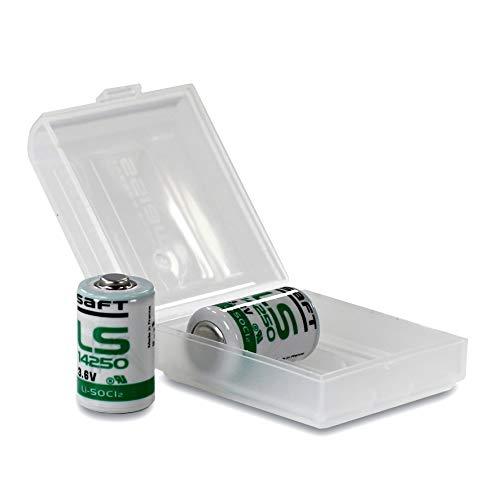 1 Saft (Saft Spezial-Batterie 1/2 AA Lithium LS 14250 3.6 V 1200 mAh 2 St. In wiederverschließbarer Batteriebox von Weiss - More Power +)