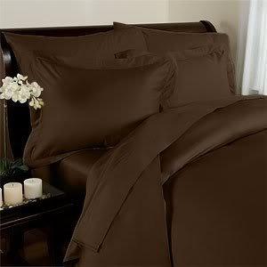 Elegance Linen 1200 serie Super morbido, antirughe, con Set di 4 pc taschino, tutte le taglie e colori, California King, colore: cioccolato