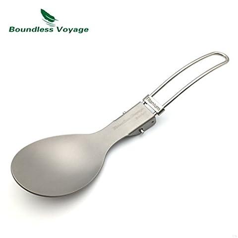 Camping Ultralight Titanium Spoon Folding Spoon(18.1g)