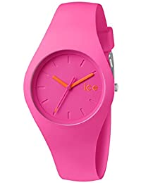 ICE-Watch - ICE Chamallow - Neon Pink - Small - Montre Mixte Quartz Analogique - Cadran Rose - Bracelet Silicone Rose - ICE.CW.NPK.S.S.14