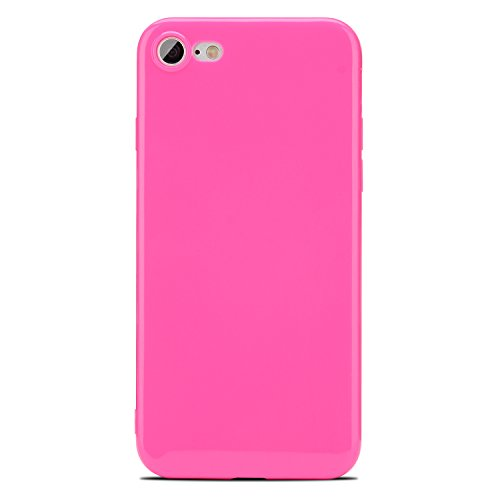 iPhone 7 Hülle, APICI TPU Jelly Snap on Gel Soft Hülle Case Tasche Schutzhülle für Apple iPhone 7 in Turquoise (Turquoise) Rosa