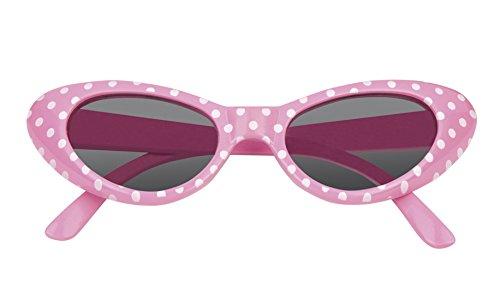 erdbeerloft -Kostümbrille 50er Brille Punkte Kostüm Sonnenbrille, (Und Marilyn Audrey Kostüme)