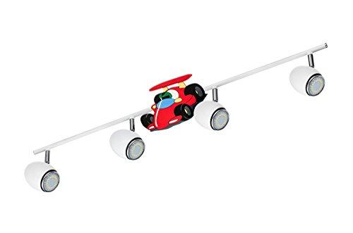 BRITOP LIGHTING Kinderspotleuchte Modell Car Schienenleuchte 4 Spots, inklusive 4x GU10, 4,5 W, LED Metall 2206402