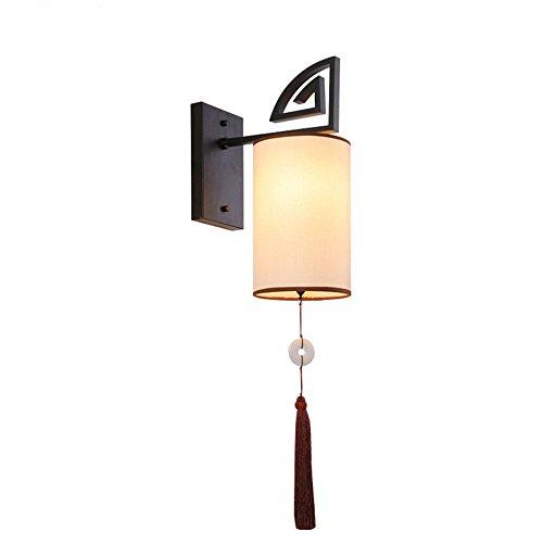 Lightoray vintage lampada da parete antiquariato lampada al posto letto in ferro battuto in stile cinese e27 retro applique da parete per bar, camera da letto, cucina, ristorante, caffè, corridoio