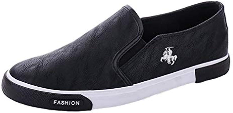 Zapatos De Cuero Ocasionales para Hombre Respirable PU Slip De Cuero En Los Hombres De La Moda Flats Loafer