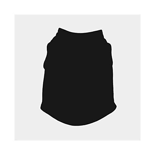Süß Heimtierbedarf, einfarbige Hundeweste, dünner Schnitt, DIY-Muster Für Welpen Small Medium Dog (Color : Black, Size : M)