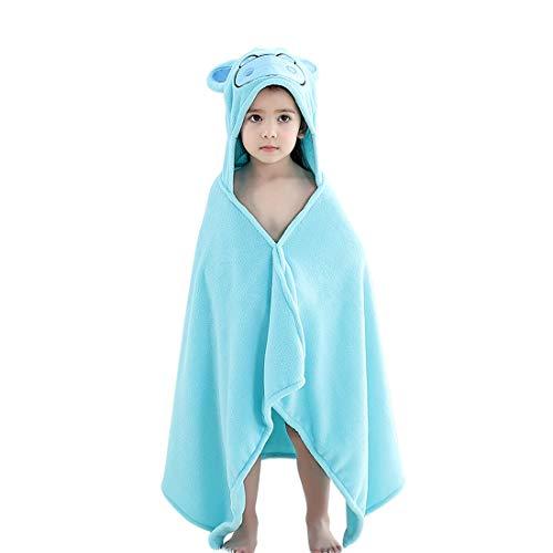Kapuze Tiermotiv Handtuch Weich Warm Baby-Badetuch Tier Badetücher Schwimmen Strand Poncho Geschenkset Strandtuch für Baby Kleinkinder Junge Mädchen Kinder 2-6 Jahre (Nilpferd) ()