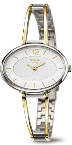 Boccia Damen Analog Quarz Uhr mit Titan Armband 3261-07