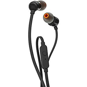 JBL T110 In-Ear Headphones with Mic (Black)