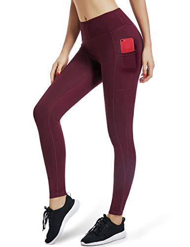 ALONG FIT Sport Leggings mit Taschen Damen Sporthose Yogahose Fitnesshose Yoga Leggings für Damen
