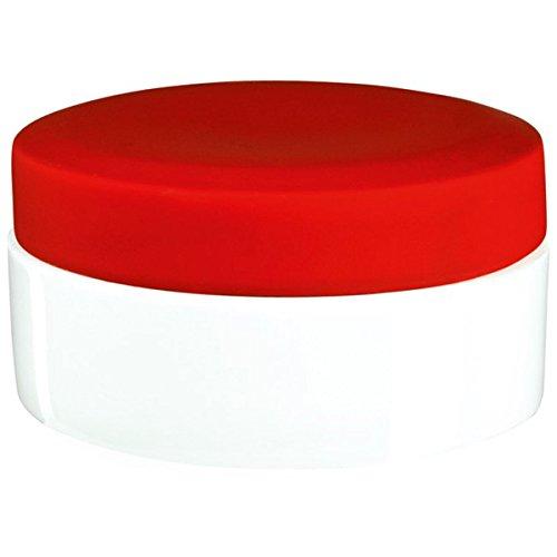 ASA 46222/019 Beauty puderdose, diamètre 10 cm, Hauteur 5 cm (Rouge)
