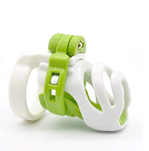 WANGLAOJIN Crochet en Plastique Blanc-Vert avec Pince de Ceinture, verrou de Porte, prévention de la Cage de l'oiseau avec verrou de sécurité (Combinaison de Taille 4) A62