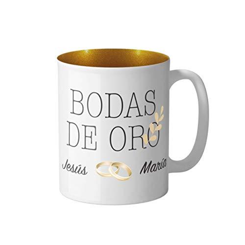 Golden Aniversario de Bodas Regalo 50th Corazón Copa de vino encantos Cristales Azul//Rosa