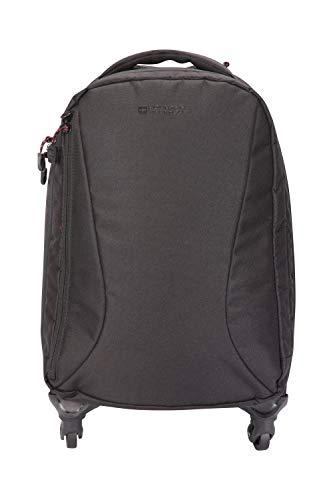 Mountain Warehouse Voyager Handgepäck m. 4 Rollen - 35-l-Tasche, verschließb. Reißverschlüsse, Laptop-Rucksack, Handgepäck-Größe - für Reisen, Festivals, Geschäftsreisen Schwarz Voyager-notebook-rucksack