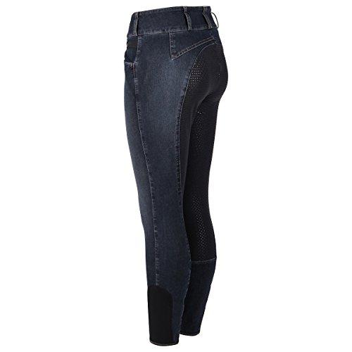 Pikeur Damen Vollbesatz Reithose Candela Jeans Grip, Denim Blue, 38