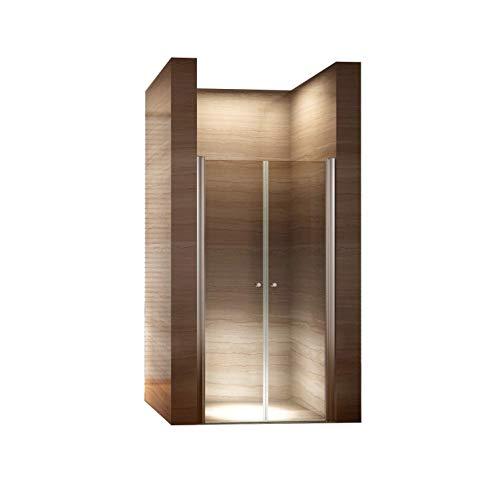 CADENTRO Porte de Douche Hauteur 195 cm - Largeur réglable/Verre Transparent 84-88 cm