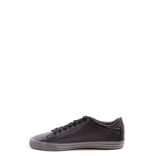 POLO RALPH LAUREN HARVEY cuir noir chaussures baskets homme Nero