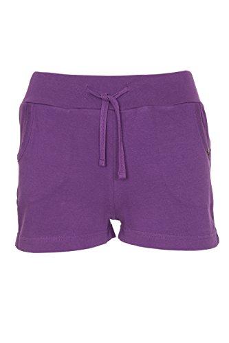 Frauen Damen Lässige Sommer Urlaub Shorts Größe 34 36 38 40 42 44 46 Violet