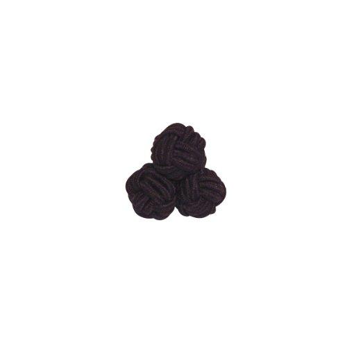 Handgemachte Herren Seidenknötchen Manschettenknöpfe cufflinks – schwarz, schwarz aus 100% Seide by VON FLOERKE
