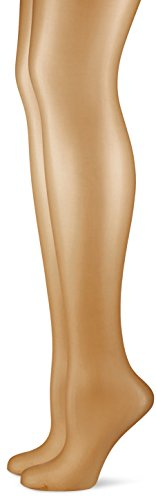Hudson Damen Strumpfhose Simply Shine 15 021644, 2er Pack, Hautfarben (Make-Up 0019), Gr. 44/46