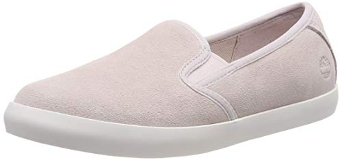 Timberland Damen Dausette Leather Slip On Sneaker Halbhoch, Weiß (Hushed Violet Jfs), 39 EU Timberland Slip-on