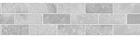 BHF FDB50027 Ceramica Tile Stone Kitchen and Bathroom Self Adhesive Border