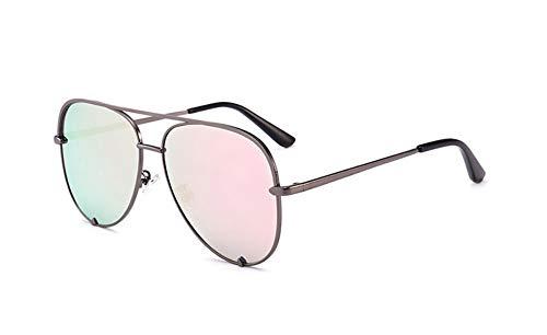 WDDYYBF Sonnenbrillen, Classic Casual Comfort Fashion Flat Top Brille Frauen Sonnenbrillen Spiegel Shades Sonnenbrille Weiblichen Uv400 Gun Frame Pink