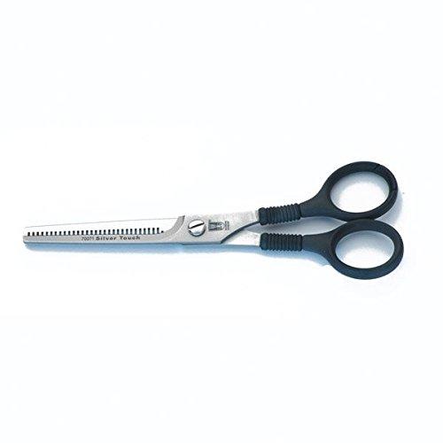 Roseline da parrucchiere, 16 cm, colore: argento, Touch-Forbici per sfoltire