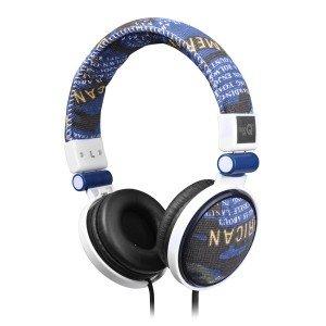 Preisvergleich Produktbild qoopro - Cascos De Música Textura Azul