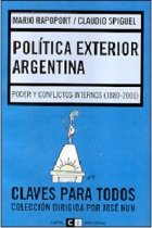 Politica exterior argentina/Argentina's International Politics: Poder Y Conflictos Internos/Power and Internal Conflicts