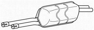 Online Automotive bmw6017Endschalldämpfer Auspuff Rückseite Box