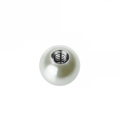 Acryl - Schraubkugel - Perlen Design - Stahlgewinde (Piercing Schraubkugel Aufsatz für Hufeisen, Stäbe, Labrets etc.) Sujet: 1,6 mm | Balle Taille: 4 mm